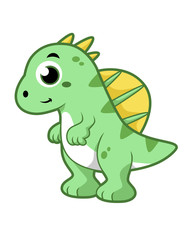 Cute illustration of a Spinosaurus.