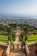 The Bahai gardens in Haifa, Israel