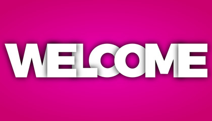 welcome letters vector word banner sign