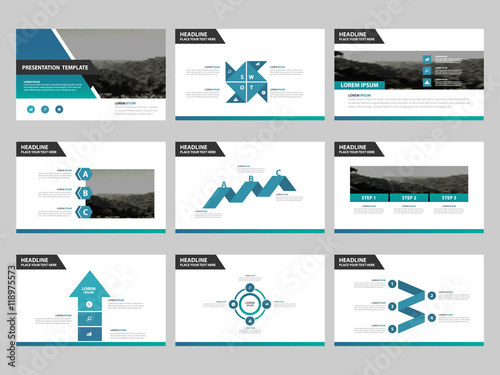 Blue abstract presentation templates infographic elements template blue abstract presentation templates infographic elements template flat design set for business proposal brochure flyer wajeb Image collections