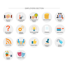 employer section icon set