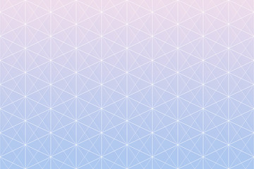 Geometric patterns. Rose Quartz and Serenity gradient colors geometric abstract background. Seamless geometric pattern triangle, square and hexagon shapes with white line.