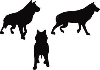 animal wolf silhouette