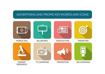Advertising and Promo Flat Iconset