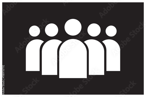 """group of people icon black background"" Arkivbilder och ..."
