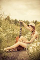 hippie style girl