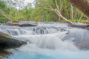 The Beautiful Nature Landscape of Stream and waterfall