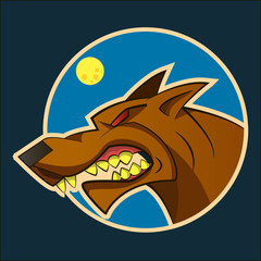 Doberman dog vector on a dark background