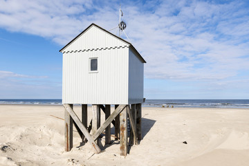 Beach hut in the Netherlands.