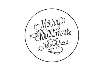 Christmas and New Year Lettering in Circle