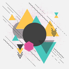 Wall Mural - Abstract geometric modern background with triangles