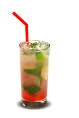 Mojito fruit cocktail. traditional cold drink in the summer.