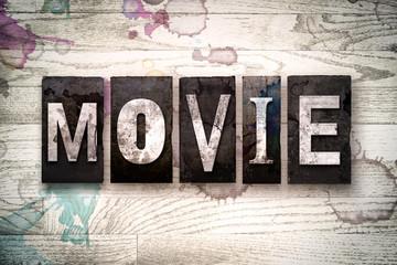 Movie Concept Metal Letterpress Type