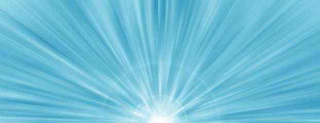 Blue radial radiant banner background