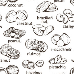 Seamless nuts pattern