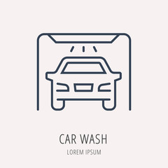 Vector Simple Logo Template Car Elements