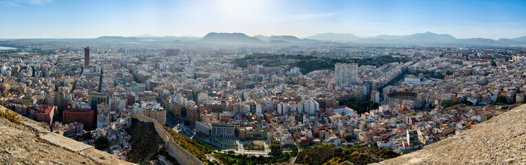 Panoramic view of Alicante city, Spain