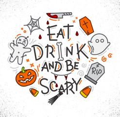 Halloween poster flat