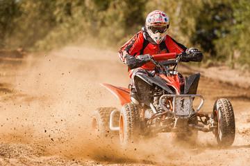 ATV Rider in the race