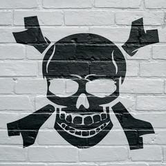 Graffiti , tête de mort