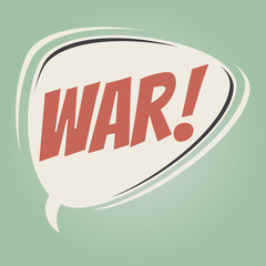war retro speech balloon