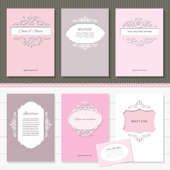 Templates set. Brochures, cards, banners.