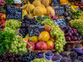 Various fresh fruits on display