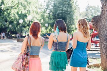 Girl friends walking together