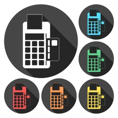 Dataphone and ticket icon vector illustration