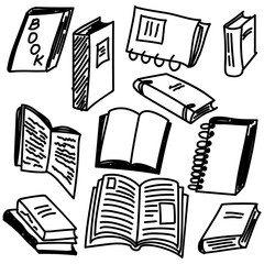 Books sketch collection