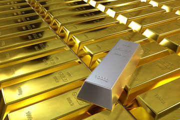 gold bars and one silver bar