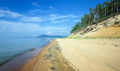 The eastern coast of Lake Baikal