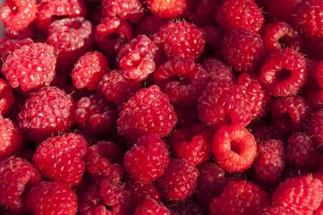 Background of raspberries