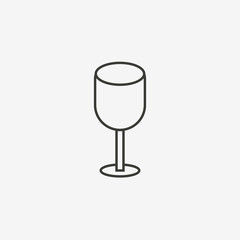 glass outline icon