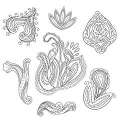Indian floral ornaments set