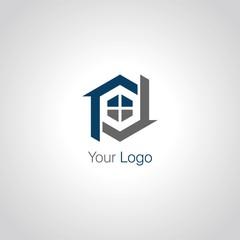 house windows construction logo