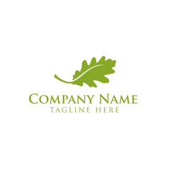 Oak,tree,leaves,gardener logo design vector