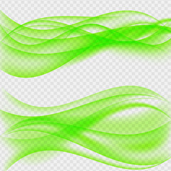 Abstract Wave on Transparent Background. Vector Illustration