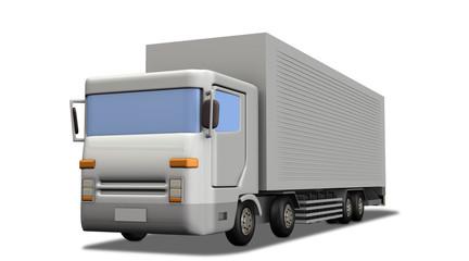 大型4軸トラックのミニチュア模型