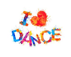I love dance. Vector