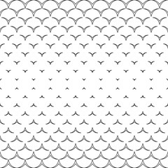Monochrome decor.  Endless abstract background.  Geometric  seamless backdrop.  Modern repeating texture.  Black and white illustration. .