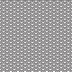 Monochrome texture.  Endless abstract background.  Geometric  seamless design.  Modern repeating illustration.  Black and white backdrop. .