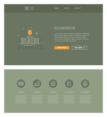 Foundation vector design template for websites and apps