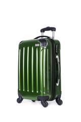 Maleta verde rígida de viaje