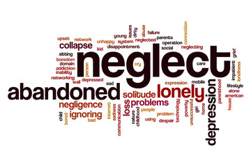 Neglect word cloud Wall mural