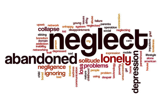 Neglect word cloud