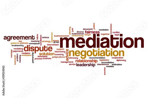 mediation word cloud stockfotos und lizenzfreie bilder auf bild 119034965. Black Bedroom Furniture Sets. Home Design Ideas