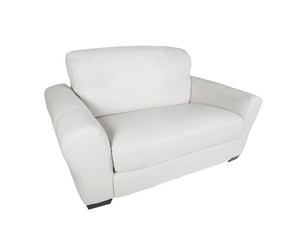 leather white armchair isolated