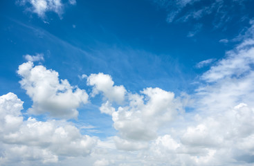 Fototapete - beautiful sky with clouds background.