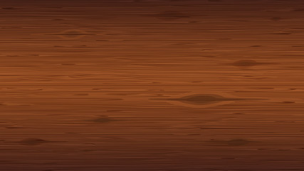 Wood plank background. Close-up of reddish brown wooden texture with knots.
